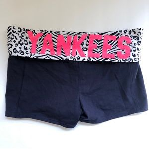 Pink Victoria's Secret 5th Ocean yankees shorts M